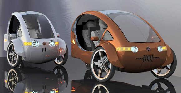 elf half bike half solar powered car. Black Bedroom Furniture Sets. Home Design Ideas