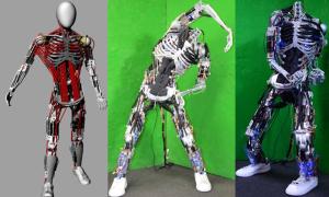 human-muscle-bone-robot